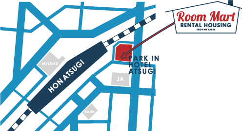 roommart本厚木map